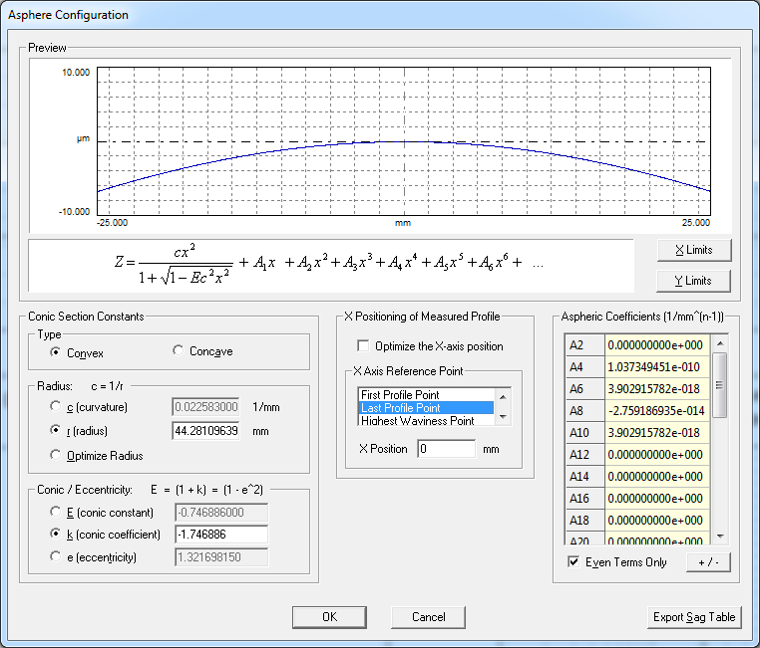 Handle aspheric geometries with OmniSurf