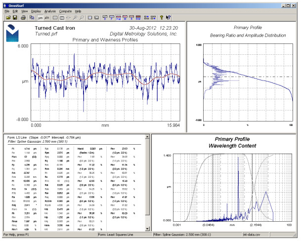 Digital Metrology-OmniSurf Surface Profile Analysis Software