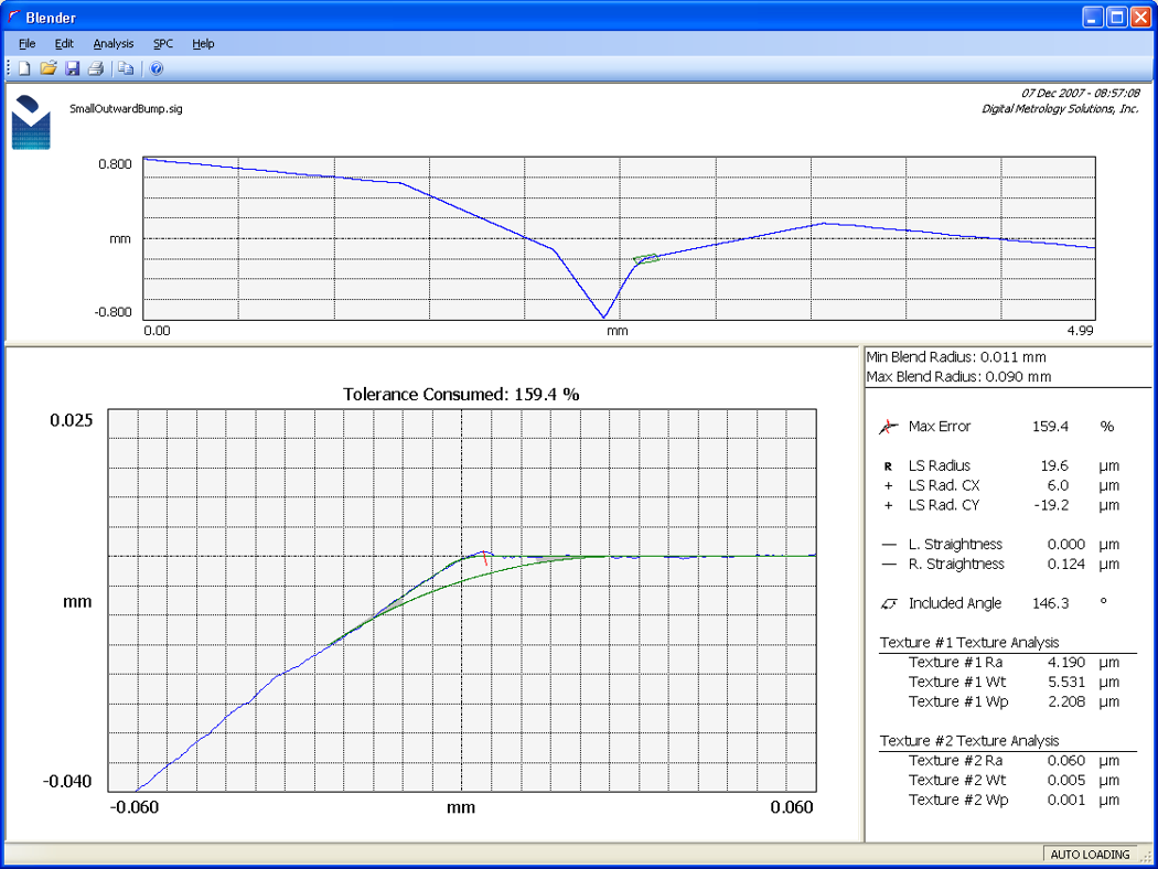 Digital Metrology Blender Corner Radius Measurement Software
