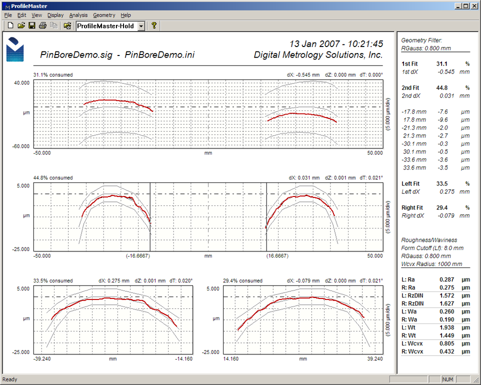 Digital Metrology-Piston PinBore Geometry Measurement Software