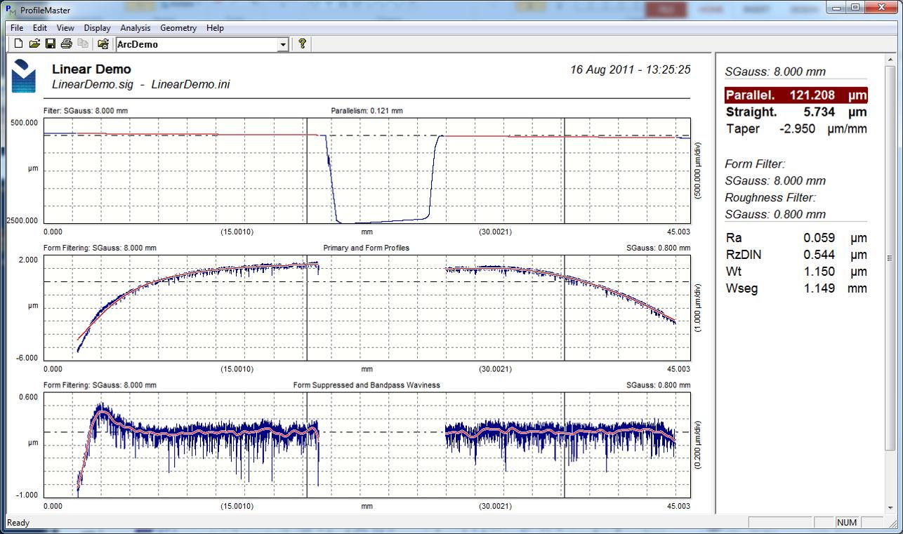 Digital Metrology-Segmented Profile Analysis Software