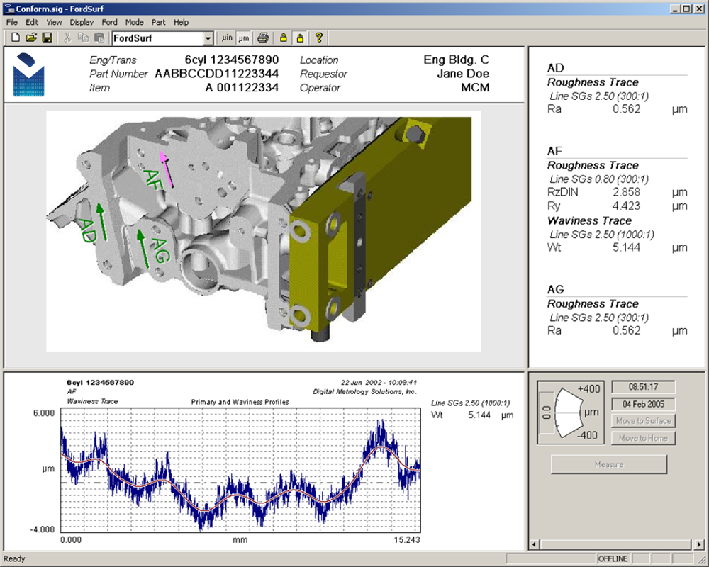Digital Metrology Trace_Director Surface Texture Analysis Software