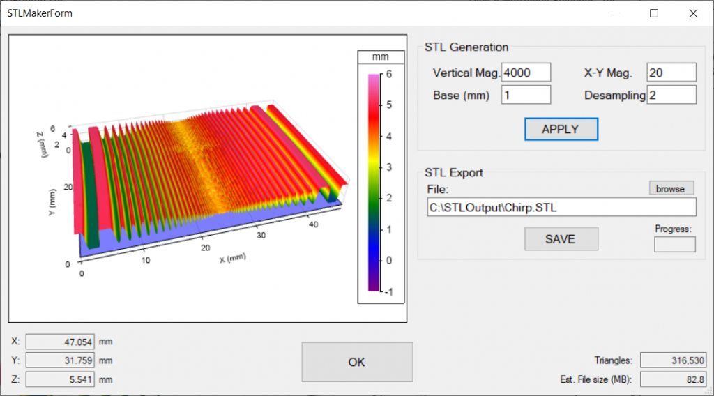 Digital Metrology - Setup for 3D Printing from 3D Surface Texture Measurement Data