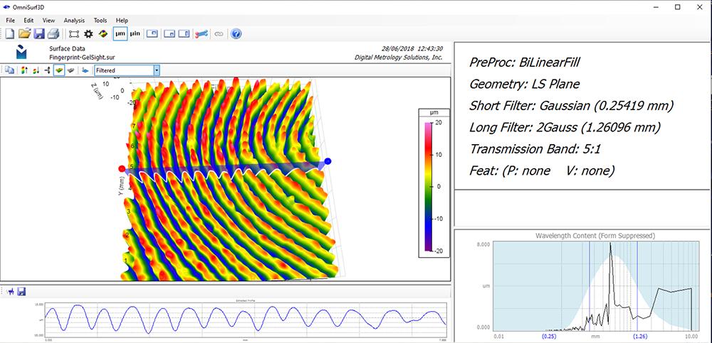 3D Surface Texture Measurement of a Fingerprint - Digital Metrology