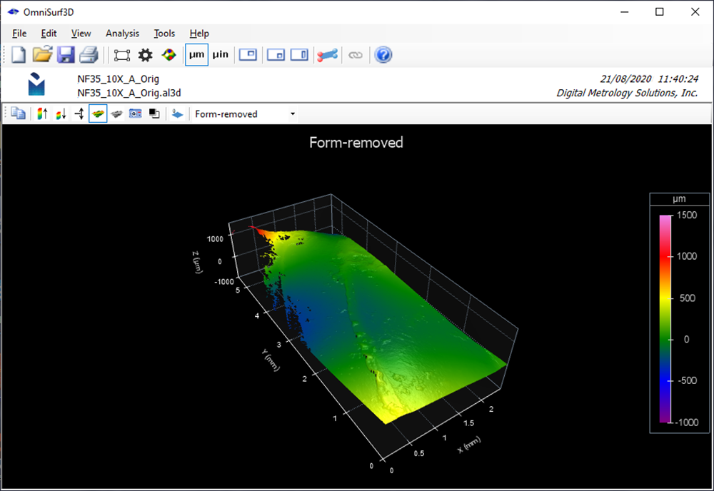 Areal 3D Surface Texture Image Overlay - Digital Metrology