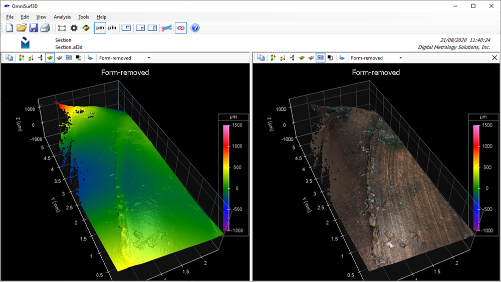 Areal 3D Surface Texture side by side comparison - Digital Metrology