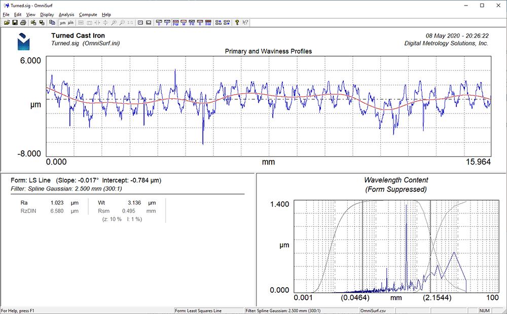 OmniSurf Surface Texture Analysis Software - Digital Metrology