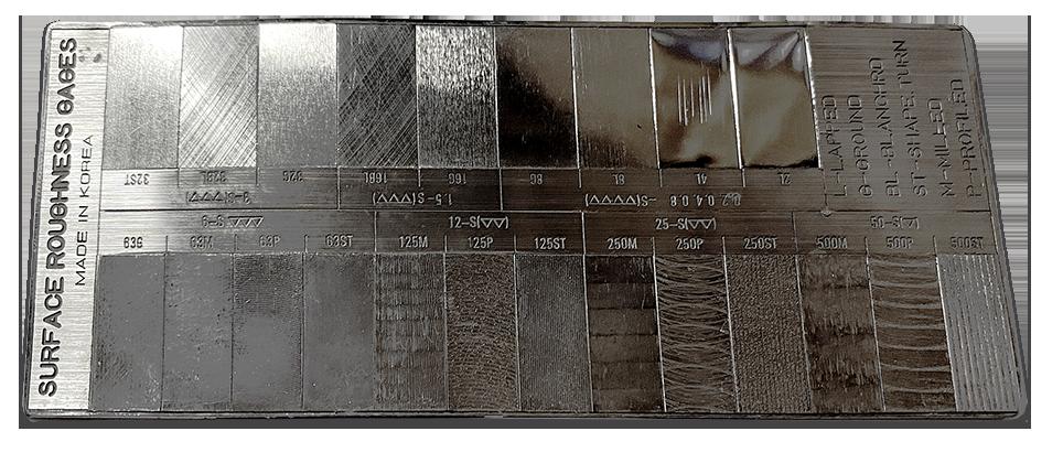 Tactile Surface Comparator Strip - Digital Metrology