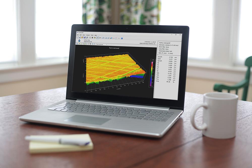 Surface texture analysis, remote analysis - Digital Metrology