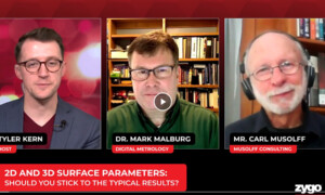Digital Metrology's Mark Malburg featured in Zygo Podcast '2D and 3D Parameters - should you stick to the typcial results'